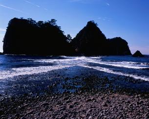 三四郎島のトンボロ現象の写真素材 [FYI04033793]