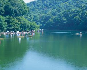 円良田湖の釣りの写真素材 [FYI04033834]