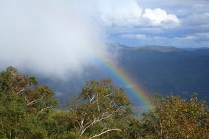 赤岳銀泉台からの虹の写真素材 [FYI04033907]