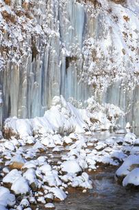 白川氷柱群の写真素材 [FYI04034146]