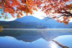 秋のオンネトーの写真素材 [FYI04034254]