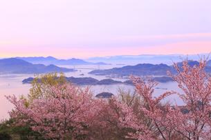 筆影山公園の桜の写真素材 [FYI04034328]