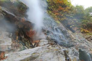 小安峡大噴湯の写真素材 [FYI04034655]