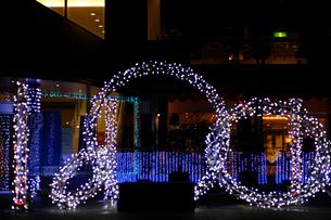 富山城址公園南側広場のホワイトイルミネーションの写真素材 [FYI04035442]