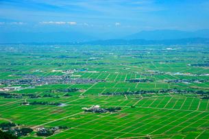 弥彦山から越後平野を望むの写真素材 [FYI04035893]