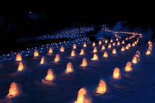 湯西川温泉のかまくら祭りの写真素材 [FYI04036549]