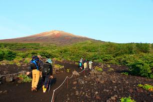 富士登山の写真素材 [FYI04036556]
