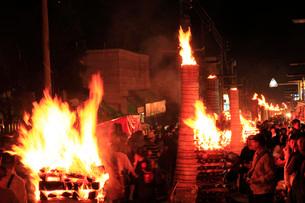 吉田の火祭りの写真素材 [FYI04036557]
