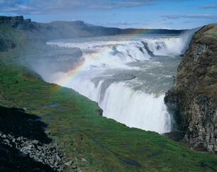 グトルフォスの大滝の写真素材 [FYI04036697]
