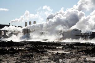 スバルトセンギ地熱発電所の写真素材 [FYI04036729]