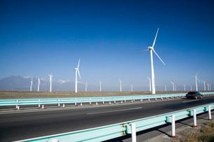 風力発電所の写真素材 [FYI04036747]