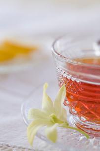 紅茶の入ったティーカップの写真素材 [FYI04040429]
