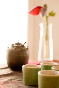 中国茶のセットの写真素材 [FYI04040462]