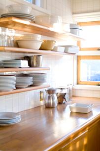 キッチンの棚の写真素材 [FYI04040468]
