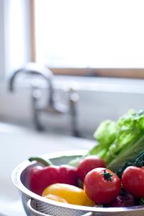 キッチンに置かれた野菜の写真素材 [FYI04040490]