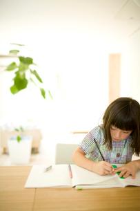 勉強する女の子の写真素材 [FYI04040867]