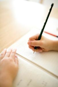 勉強する女の子の手元の写真素材 [FYI04040870]