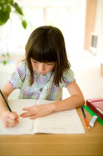 勉強する女の子の写真素材 [FYI04040871]