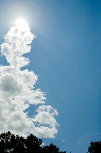 雲からでてくる太陽の写真素材 [FYI04041165]
