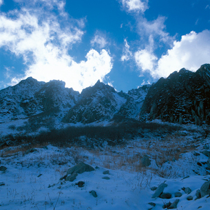 冬の中央アルプス 千畳敷の写真素材 [FYI04041225]