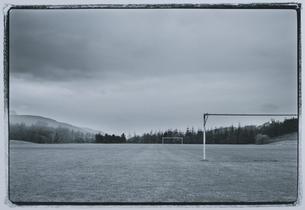 サッカーゴール BWの写真素材 [FYI04047647]