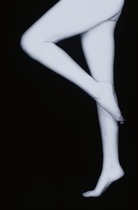 女性の横向きの脚(B&W)の写真素材 [FYI04047707]
