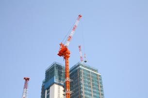 建築中の高層マンションの写真素材 [FYI04047818]