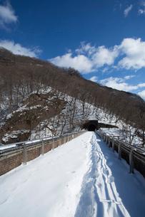 冬の碓氷第三橋梁(めがね橋)の写真素材 [FYI04049530]