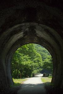 碓氷6号トンネルより新緑の碓氷第三橋梁(めがね橋)の写真素材 [FYI04049596]