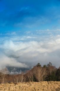 美ヶ原高原の雲海の写真素材 [FYI04049659]