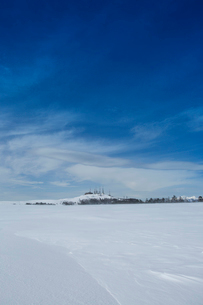 冬の美ヶ原高原の写真素材 [FYI04049663]