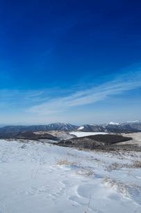 冬の八島ヶ原湿原の写真素材 [FYI04049685]