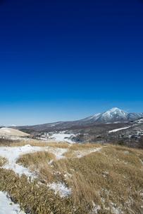 冬の蓼科山と白樺湖の写真素材 [FYI04049686]