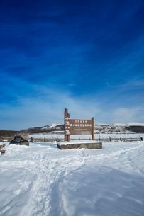 冬の八島ヶ原湿原の写真素材 [FYI04049687]