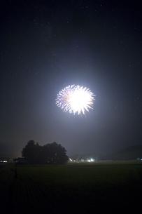星空の打ち上げ花火の写真素材 [FYI04049952]