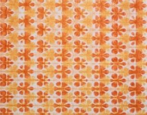 雪花染(オレンジ)の和紙の写真素材 [FYI04050071]