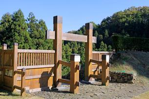 八王子城跡 冠木門の写真素材 [FYI04050918]