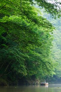 夏の猊鼻渓の川下り風景の写真素材 [FYI04051053]