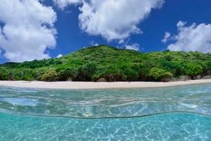 半水面の宮古島の海の写真素材 [FYI04051424]