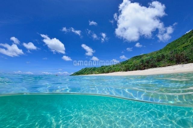 半水面の宮古島の海の写真素材 [FYI04051425]