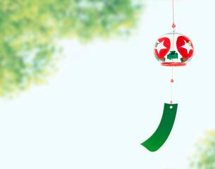 風鈴と緑の写真素材 [FYI04051962]