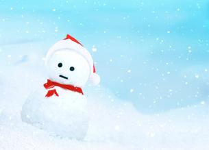 雪だるまのサンタクロースの写真素材 [FYI04052042]