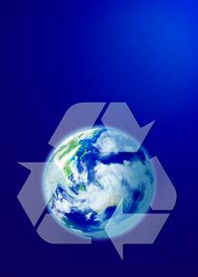 地球とリサイクルのイメージの写真素材 [FYI04052077]