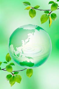 地球と緑の写真素材 [FYI04052087]