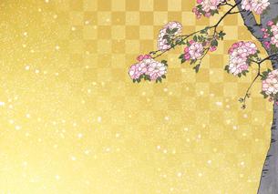 浮世絵の桜のイラスト素材 [FYI04052097]