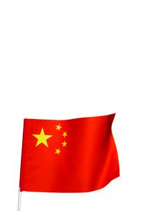 たなびく中国国旗の写真素材 [FYI04052621]