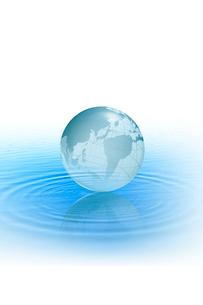 水に浮かぶ地球のイラスト素材 [FYI04052966]