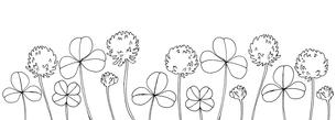 シロツメクサ線画のイラスト素材 [FYI04058521]