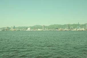神戸港と市街の写真素材 [FYI04058616]