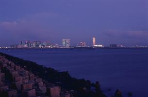 茜浜から幕張を望む夜景の写真素材 [FYI04059280]